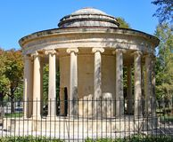 The memorial to Sir Thomas Maitland in a park in Corfu town stock photos