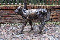 Memorial to Slaughtered Animals - bronze sculptures of animal at historic butchers area. WROCLAW, POLAND - DECEMBER 12, 2019: Memorial to Slaughtered Animals stock images