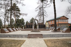 Memorial to soldiers of 5 armies of the Western front. Zvenigorod, Russia. View of Memorial to soldiers of 5 armies of the Western front. Zvenigorod, Russia Stock Images