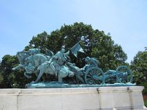 Memorial to the soldiers of the Civil War, located in Washington, D.C. stock photos