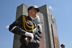 The memorial to soldiers who died in Afghanistan, in the Gomel region of the Republic of Belarus. Stock Photography