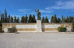 Memorial to the 300 spartans, Greece Royalty Free Stock Images