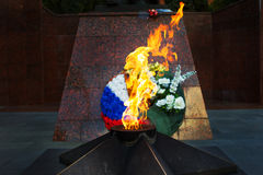 Memorial to tomb of soldiers died in WWII in Zvenigorod, Russia Royalty Free Stock Images