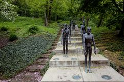 Memorial to the Victims of Communism, Prague, Czech Republic. Statues of the Memorial to the Victims of Communism located at the base of Petrin hill in Prague stock photography