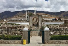 A memorial to the victims of the earthquake, Huascaran, Peru Stock Images