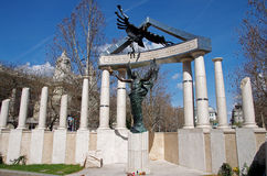 Memorial to the victims of the German occupation. The memorial to the victims of the German occupation in Budapest, Hungary Stock Photo