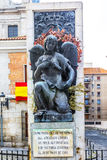 Memorial to victims of the terrorist attack in Madrid. Spain. Memorial in memory of the victims of the terrorist attack against Alfonso XIII and Victoria Royalty Free Stock Image