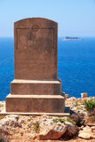 The memorial to Walter Norris Congreve in Qrendi coast, Malta Royalty Free Stock Photos