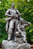 Memorial to Warrior - scout in Victory Park, Kaliningrad, Russia Royalty Free Stock Image