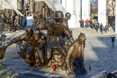 Memorial to 1944 Warsaw Uprising. WARSAW - DECEMBER 28: Monument to the 1944 Warsaw Uprising, unveiled on the 01 August 1989, designed by Wincenty Kucma & Jacek Royalty Free Stock Photos