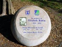 Memorial to Yitzak Rabin Royalty Free Stock Photography