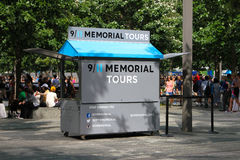 911 Memorial Tour stand. Royalty Free Stock Photo