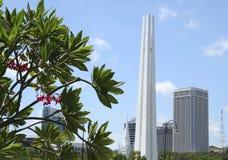 Memorial Tower Singapore City Royalty Free Stock Image