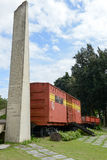 Memorial of train captured by Che Guevara's forces Stock Photos