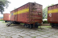 Memorial of train captured by Che Guevara's forces Royalty Free Stock Photos
