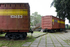 Memorial of train captured by Che Guevara's forces Stock Images