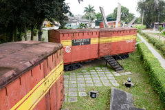 Memorial of train captured by Che Guevara's forces Royalty Free Stock Image