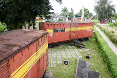 Memorial of train captured by Che Guevara's forces Stock Photography