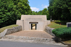 Memorial Tranchée des Baionnettes, Verdun. Memorial Tranchée des Baionnettes (bayonet trench) at the Verdun battlefield, department Meuse, France stock photography