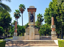 Memorial tribute to the painter Julio Romero de Torres, Cordoba, Spain. Monument dedicated by the city of Cordoba to the painter Julio Romero de Torres, one of Royalty Free Stock Photo