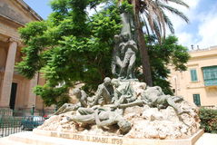 Memorial in Valletta Royalty Free Stock Photography