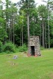 Memorial velho do monte de pedras do relógio preto, dedicado ao relógio preto que caiu no forte em 1758, forte Ticonderoga, New Y Imagem de Stock Royalty Free