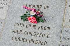 Memorial on Veterans Day to a War Veteran. Royalty Free Stock Photo