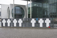 Memorial for victims of Berlin wall Stock Photography