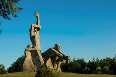 Memorial Victims of fascism in Zmievskaya beam Stock Images