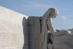 Memorial of Vimy in france. Canadian memorial of Vimy in Nord region of France. Memorial to the first world war. Sculpture commemorates Canadian soldiers killed stock image