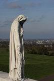 Memorial of Vimy in france. Canadian memorial of Vimy in Nord region of France. Memorial to the first world war. Sculpture commemorates Canadian soldiers killed royalty free stock photos