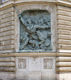Memorial wall dedicated to World War I in Budapest, Hungary. Stock Images