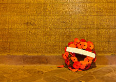 Memorial wall of Langemark, Flanders Fields Royalty Free Stock Image