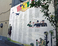 Memorial Wall In Little Italy Royalty Free Stock Photography