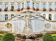 Memorial of War 1914-1918 on City hall in Epernay, France Royalty Free Stock Photos