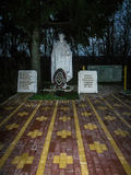 The memorial at the war graves of soldiers of the great Patriotic war of 1941-1945 in the Kaluga region in Russia. Royalty Free Stock Photography