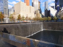 Memorial at World Trade Center Ground Zero in New York Stock Images