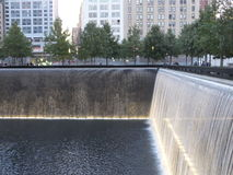 Memorial at World Trade Center Ground Zero in New York Stock Photo