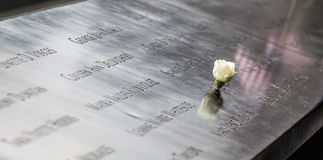 Memorial at World Trade Center Ground Zero Stock Images
