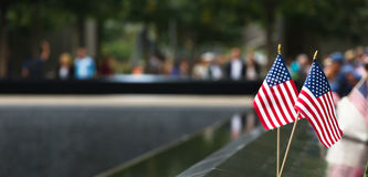 Memorial at World Trade Center Ground Zero Royalty Free Stock Image