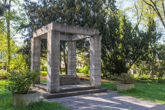 Memorial for world wars. A memorial for the soldiers of the world wars in a park in Germeny - bavaria Stock Photos