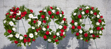 Memorial wreaths Royalty Free Stock Image