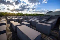 Memoriale agli ebrei assassinati di Europa a Berlino Immagine Stock Libera da Diritti