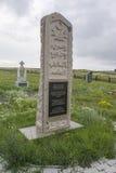 Memoriale ai prigionieri di KarLang in Spassky Monumento alla gente di Ingush e del ceceno Fotografie Stock