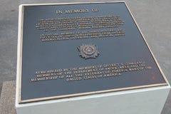 Memoriale ai soldati americani che sono morto durante la costruzione della ferrovia rinomata di morte della Tailandia-Birmania fotografie stock