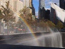 Memoriale al ground zero del World Trade Center a New York Fotografie Stock Libere da Diritti