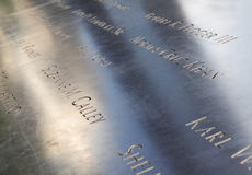 Memoriale al ground zero in NYC Immagini Stock