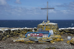 Memoriale al HMS Sheffield - Falkland Islands Fotografia Stock Libera da Diritti