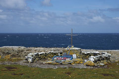 Memoriale al HMS Sheffield - Falkland Islands Fotografie Stock Libere da Diritti