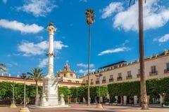 Memoriale al posto della costituzione a Almeria, Spagna Fotografia Stock Libera da Diritti